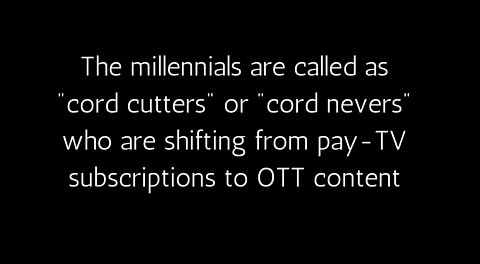 Millennials are called cord cutters by Ooyala